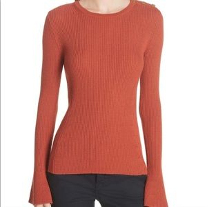 Tory Burch Liv Merino Wool pullover sweater